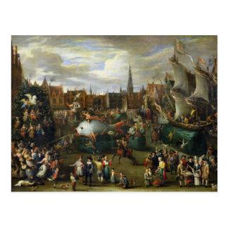 Ein Festival in Antwerpen Postkarte