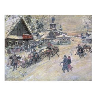 Ein festlicher Weg, Russland Postkarte