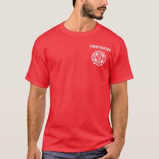 Ein Feuerwehrmann-Logo T-Shirt
