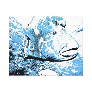 Ein Fisch rief Wally an Leinwanddruck