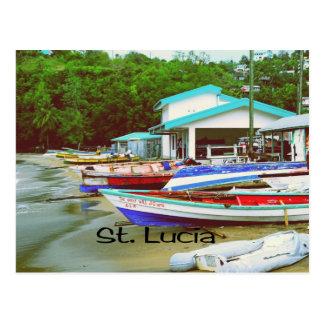 Ein Fischerdorf in St Lucia Postkarte
