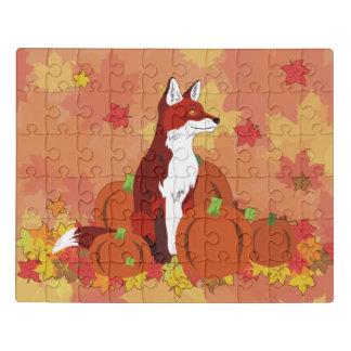 Ein Fox im Kürbis-Flecken Puzzle