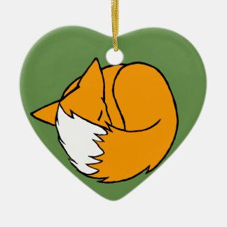 Ein Fox Keramik Ornament