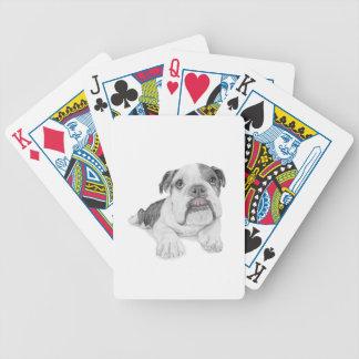 Ein frecher Bulldoggen-Welpe Bicycle Spielkarten