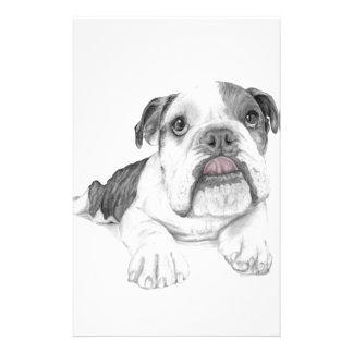 Ein frecher Bulldoggen-Welpe Briefpapier