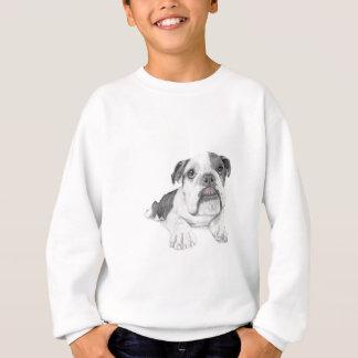 Ein frecher Bulldoggen-Welpe Sweatshirt