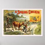 Ein Frühlings-Huhn-Vintages Plakat
