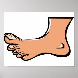 Ein Fuß-Plakat Poster