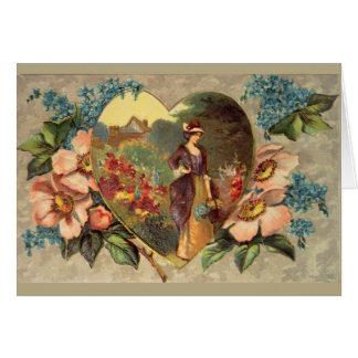 Ein Garten der Blumen danken Ihnen zu kardieren Karte