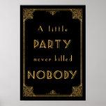 ein gatsby inspiriertes Hochzeitszeichen des Poster
