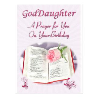 Ein Gebet für eine Patenttochter auf ihrem Postkarte