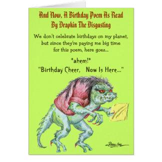 Ein Geburtstags-Gedicht durch Drapkin das Ekeln Karte