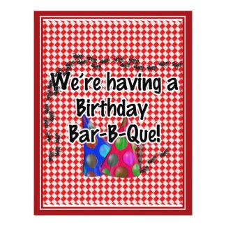 Ein Geburtstags-Grill-Party 21,6 X 27,9 Cm Flyer