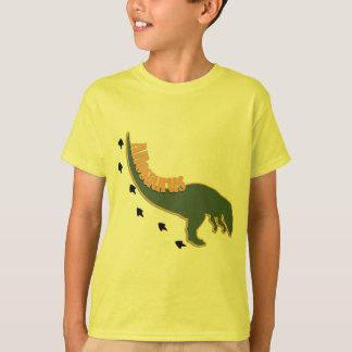 Ein geduckter Allosaurus-Dinosaurier im Grün T-Shirt