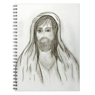 Ein gekleideter Jesus Notizblock