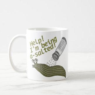 Ein gesalzenes Schnecken-Wortspiel Kaffeetasse