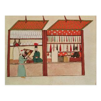 Ein Geschäft, das unterschiedliche Waren verkauft Postkarte