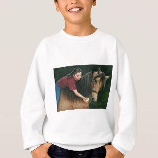 Ein Geschenk für sonnige Morgan-Pferdekunst Sweatshirt