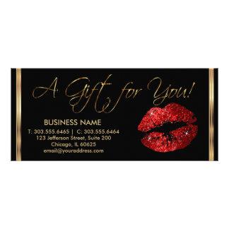Ein Geschenkgutschein-rotes Lippenstift-Geschäft 2 Kartendruck