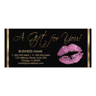 Ein Geschenkgutschein-so Rosa-Lippenstift-Geschäft Bedruckte Werbekarten