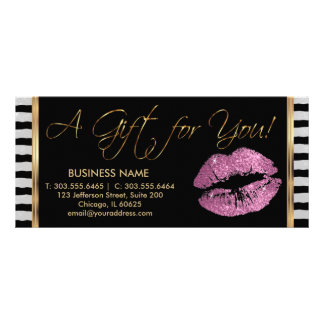 Ein Geschenkgutschein-so Rosa-Lippenstift-Geschäft Personalisierte Werbekarte
