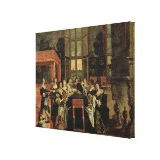 Ein Gespräch zwischen Frauen Gespannte Galeriedrucke