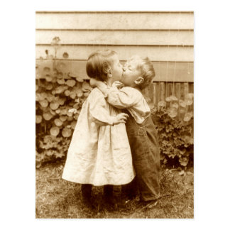 Ein gestohlener Kuss Postkarte