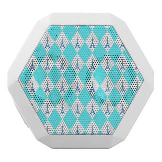 Ein girly aquamarines Diamanteiffel-Turmneonmuster Weiße Bluetooth Lautsprecher