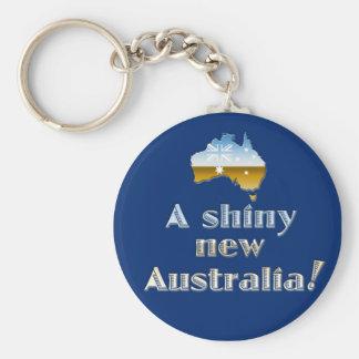 Ein glänzendes neues Australien Schlüsselanhänger