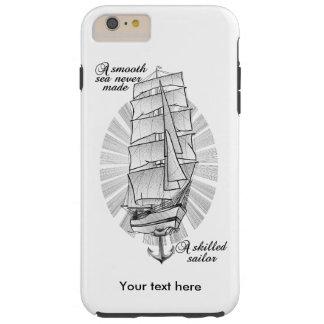Ein glattes Meer machte nie einen erfahrenen Tough iPhone 6 Plus Hülle