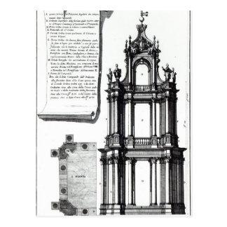 Ein Glockenturm konzipiert für St Peter, Rom Postkarte