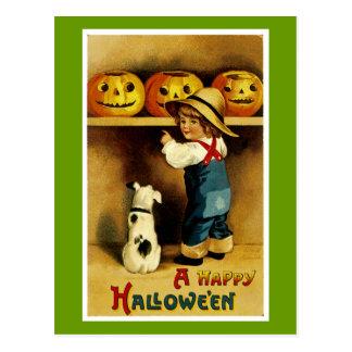 Ein glückliches Halloween Postkarte