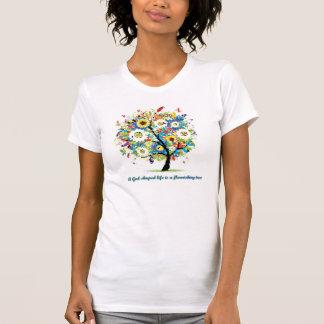 Ein Gott-Förmiges Leben ist A, das Baum blüht T-Shirt
