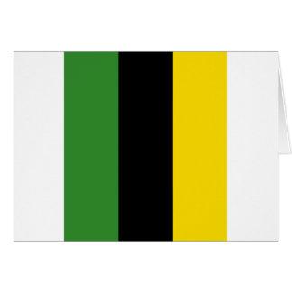 Ein greller Schlag der jamaikanischen Farben Karte