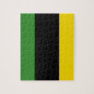 Ein greller Schlag der jamaikanischen Farben Puzzle