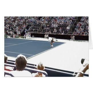 Ein großer Tennis-Liebhaber-Entwurf Karte
