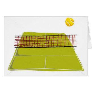Ein großer Tennisplatz-Entwurf. Welcher Spaß Karte