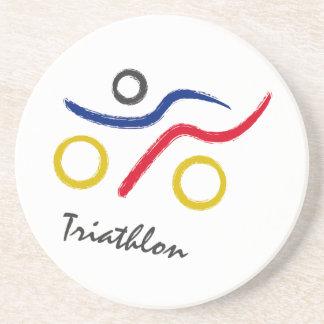Ein großes Triathlongeschenk für Ihren Freund oder Sandstein Untersetzer
