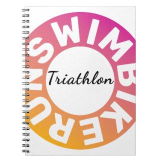 Ein großes Triathlongeschenk für Ihren Freund oder Spiral Notizblock
