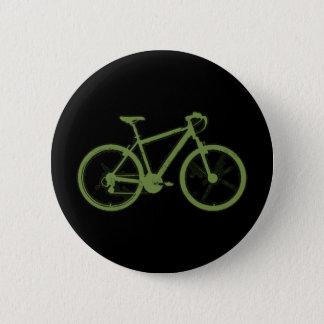 ein grünes Fahrrad Runder Button 5,1 Cm