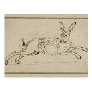 Ein Hase-Betrieb, wenn die Ohren (Stift u. Tinte Postkarte