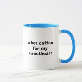 ein heißer Kaffee für meinen Schatz Tasse