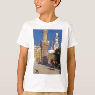 Ein heißer Tag in Kairo (Front der Moschee) durch T-Shirt