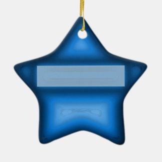 Ein heißes und cooles Weihnachten Keramik Stern-Ornament