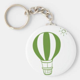 Ein Heißluftballon und eine Sonne Standard Runder Schlüsselanhänger