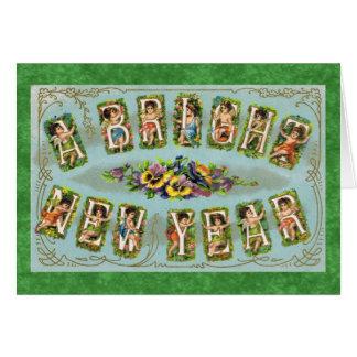 Ein helles neues Jahr Karte