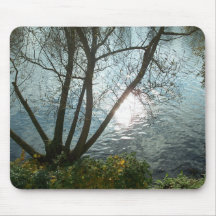 Ein Herbsttag am See Mousepad
