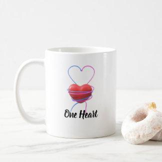 Ein Herz-- blaue u. rosa Pfeile für Valentinstag Kaffeetasse