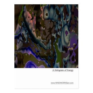 Ein Hologramm von Energie Postkarte
