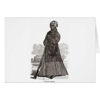 Ein Holzschnittbild von Harriet Tubman, bis 1869 Karte